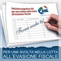 Petizione popolare Uil lotta evasione fiscale